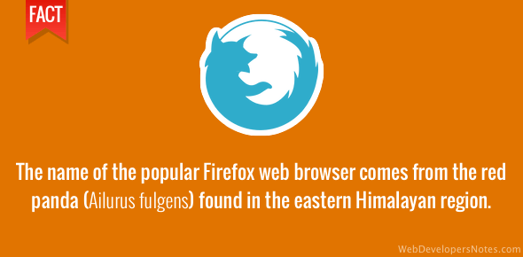 Firefox is named after the red panda