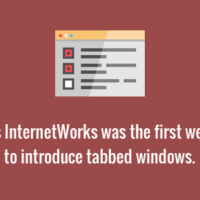 First web browser to have tabs