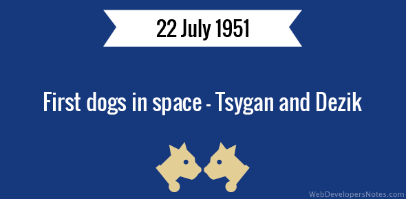 First dogs in space – Tsygan and Dezik