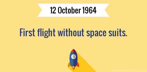 First flight without space suits