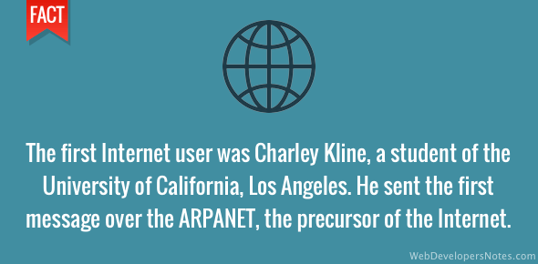 First Internet user - Charley Kline