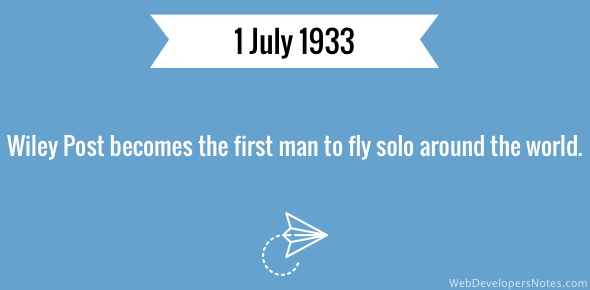 First person to fly solo around the world