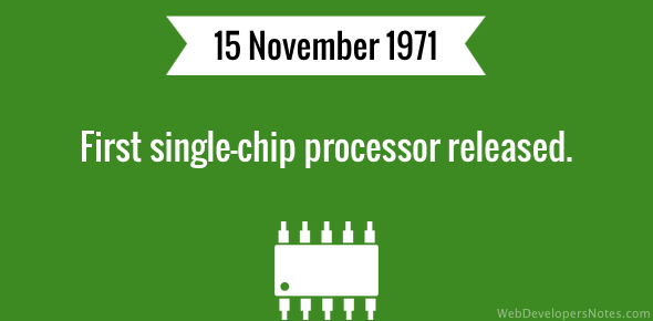 First single-chip processor released