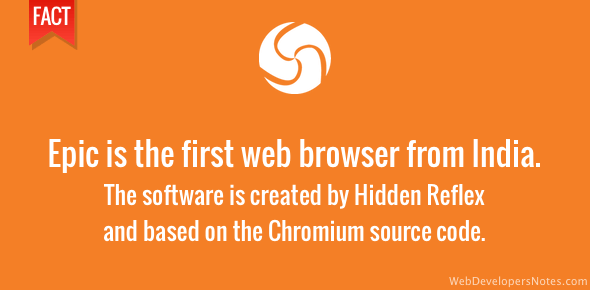 Epic - first web browser from India