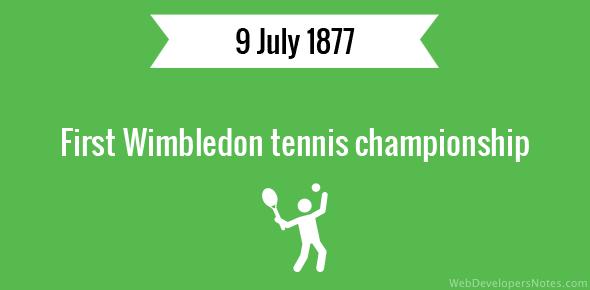 First Wimbledon tennis championship
