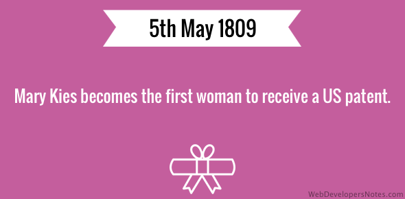 First woman to receive US patent