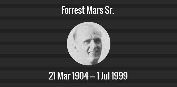 Forrest Mars Sr. Death Anniversary - 1 July 1999