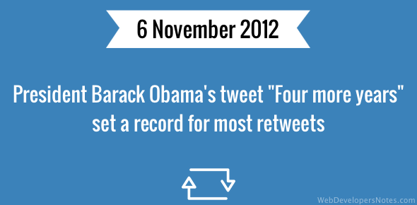 Four more years tweet sets record