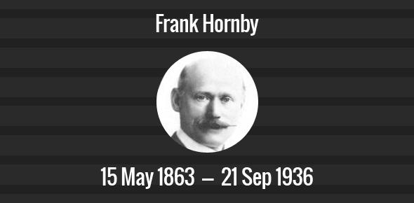 Frank Hornby Death Anniversary - 21 September 1936