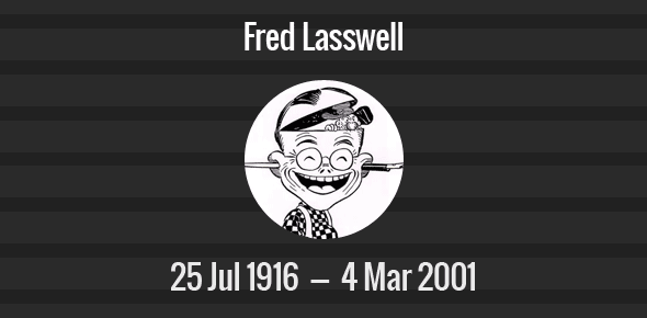 Fred Lasswell Death Anniversary - 4 March 2001