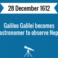 Galileo Galilei becomes first astronomer to observe Neptune.