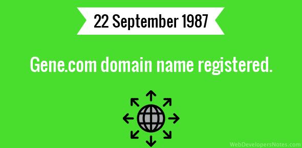 Gene.com domain name registered.