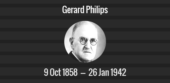 Gerard Philips Death Anniversary - 26 January 1942