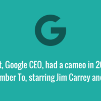 Eric Schmidt, Google CEO, cameo in film