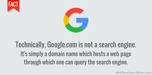 Google.com is a domain name