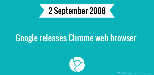 Google releases Chrome web browser.