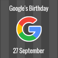 Google's birthday falls on 27 September