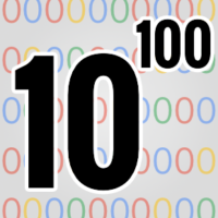 Google's name comes from googol - 1 followed by 100 zeroes