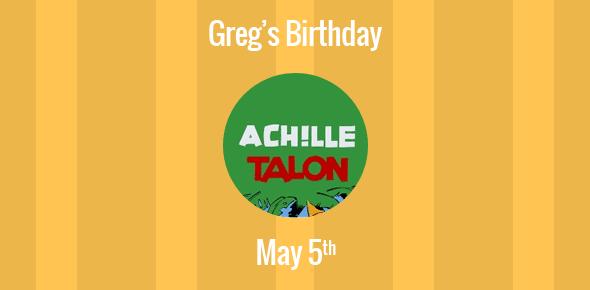 Greg Birthday - 5 May 1931