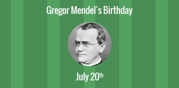 Gregor Mendel Birthday - 20 July 1822