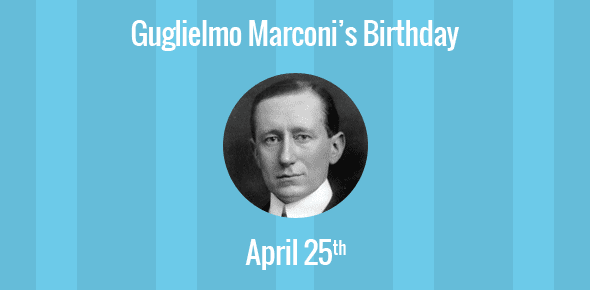 Image result for the birthday of marconi