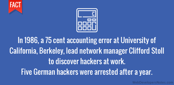 Hackers arrested after accounting error found