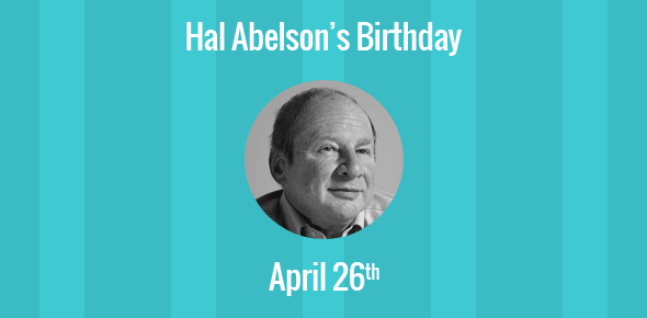 Birthday Of Hal Abelson Founding Director Of Creative