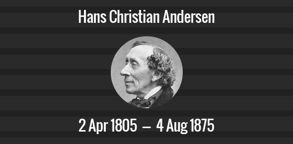 Hans Christian Andersen Death Anniversary - 4 August 1875
