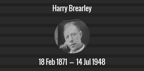 Harry Brearley Death Anniversary - 14 July 1948