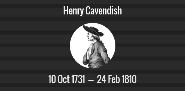 Henry Cavendish Death Anniversary - 24 February 1810
