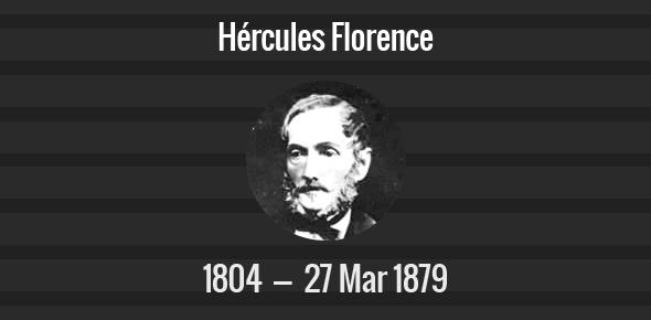 Hércules Florence Death Anniversary - 27 March 1879