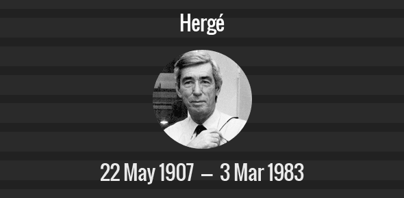 Hergé Death Anniversary - 3 March 1983