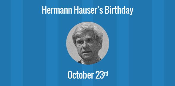 Hermann Hauser Birthday - 23 October 1948