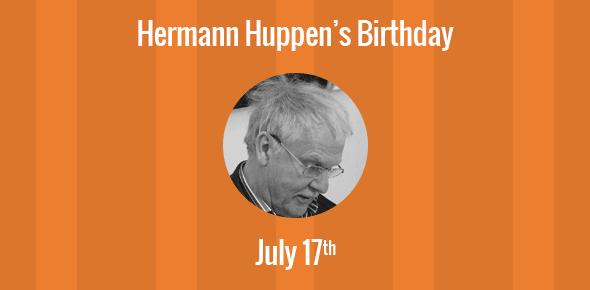 Hermann Huppen Birthday - 17 July 1938