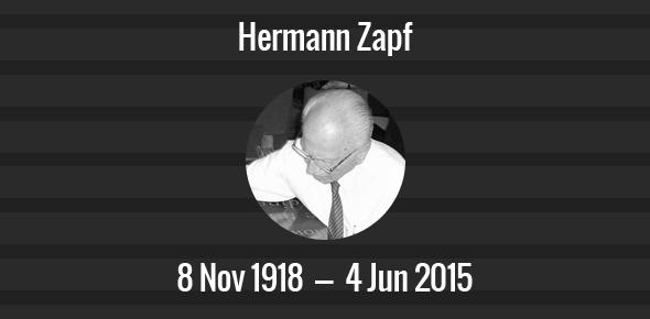 Hermann Zapf Death Anniversary - 4 June 2015