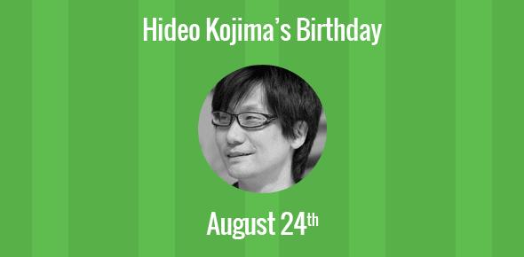 Birthday Of Hideo Kojima Famous Japanese Video Game Designer - Famous video game designers