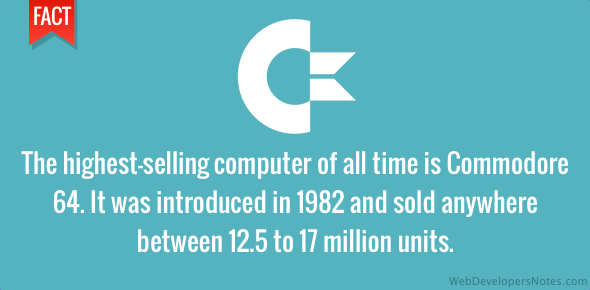 Commodore 64 is the highest-selling computer of all tim