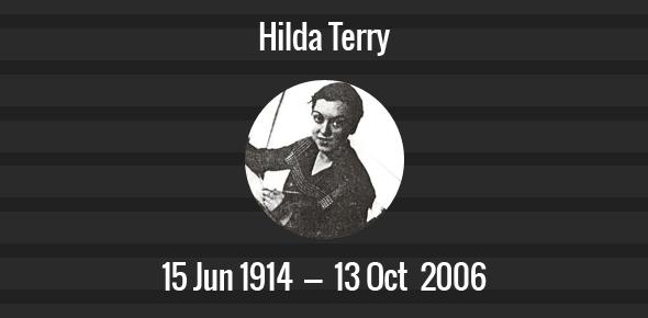 Hilda Terry Death Anniversary - 13 October 2006