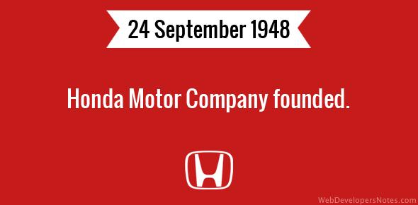 Honda Motor Company Founded