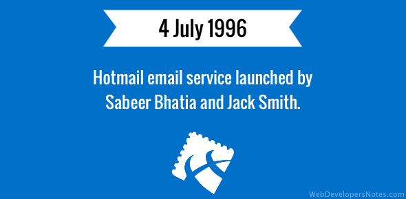 Hotmail email service launched