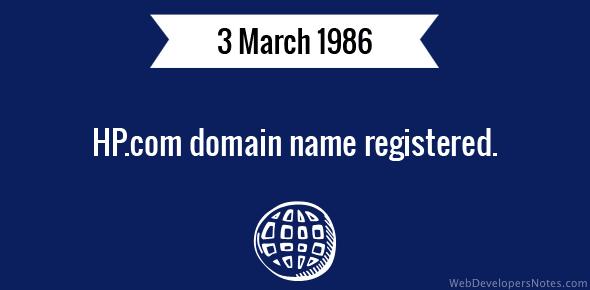 HP.com domain name registered.