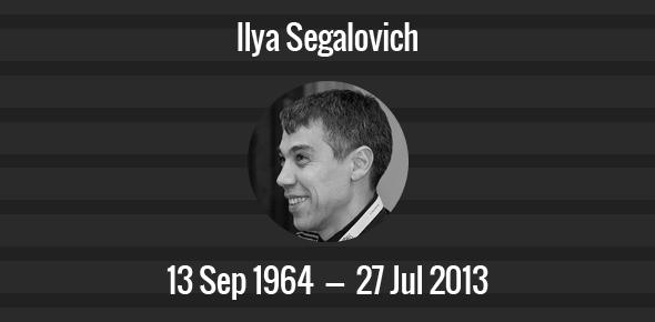Ilya Segalovich Death Anniversary - 27 July 2013