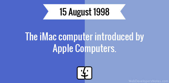 The iMac computer introduced by Apple Computers.