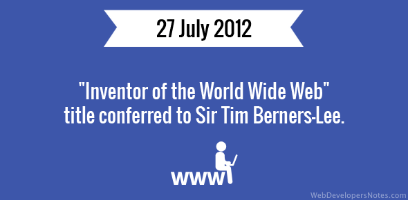 Inventor of the World Wide Web title