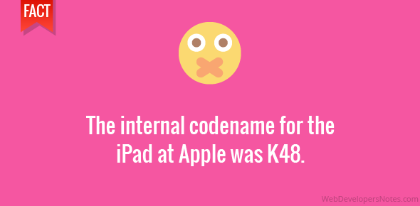The internal codename for the iPad at Apple was K48.