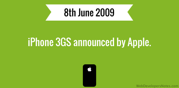 iPhone 3GS announced by Apple.