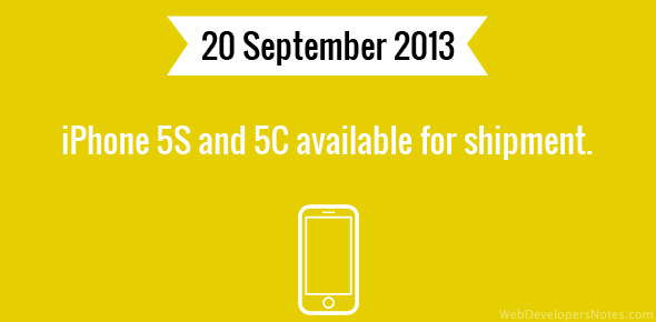 iPhone 5S and 5C available for shipment.