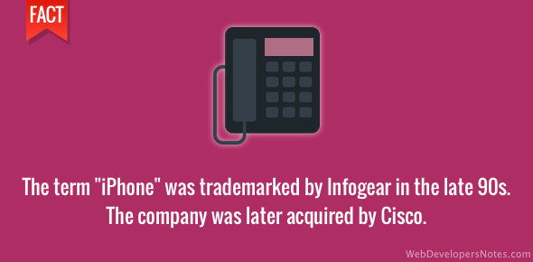 iPhone term was trademarked by Infogear