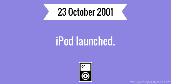 iPod launched