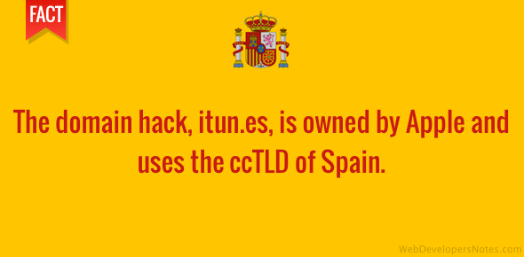 iTunes domain hack uses ccTLD of Spain
